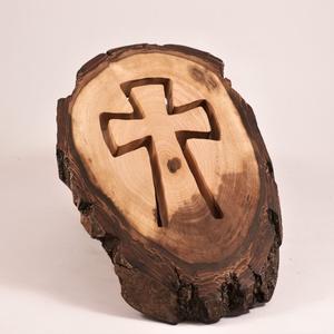 Fakereszt, kereszt, fali dísz , Otthon & Lakás, Spiritualitás & Vallás, Kereszt, Famegmunkálás, Meska