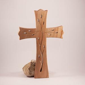 Mintás kereszt, fakereszt  35 cm, Otthon & Lakás, Spiritualitás & Vallás, Kereszt, Famegmunkálás, Meska