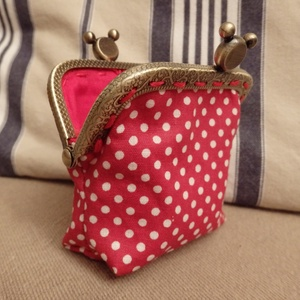 Minnie egér piros tárca fémkerettel (HollyH) - Meska.hu