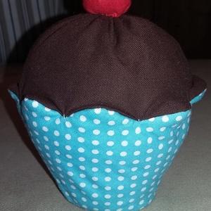Muffin csokis, Gyerek & játék, Otthon & lakás, Játék, Dekoráció, Édes legyen, de ne hízlalós! Ez a megfelelő választás. A muffin alját mintás pamutvászonból varrtam,..., Meska