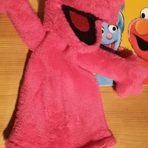 """Báb szörnyecske \""""Lizy\"""", Kesztyűbáb, Bábok, Játék & Gyerek, Baba-és bábkészítés, Varrás, Ismeritek Elmot a Szezám utcából? Nos, Lizy a kis szörny, Elmo unokatesója.\nPihe-puha babysoft anyag..., Meska"""