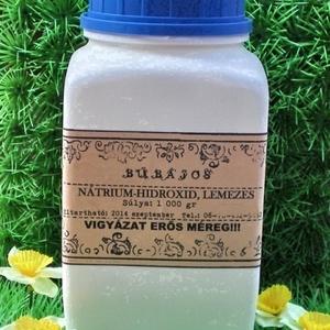 Szappankészítéshez NaOH 1000 gr, Vegyes alapanyag, Szappan, Szappankészítéshez!!!   A nátrium-hidroxid (NaOH), marónátron, nátronlúg, marószóda, marólúg vagy lú..., Meska