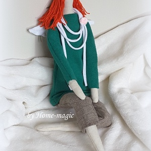 Gina angyalka - Tilda baba, Játék, Gyerek & játék, Baba, babaház, Dekoráció, Otthon & lakás, Dísz, Baba-és bábkészítés, Varrás, Textilből készült angyal babácska, melyet lánykáknak és felnőtt hölgyeknek egyaránt ajánlok.\n\nGina f..., Meska