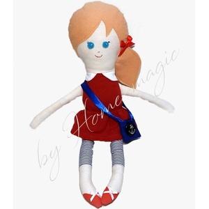 Marina - textil baba, Baba, Baba & babaház, Játék & Gyerek, Baba-és bábkészítés, Varrás, Textilből készült baba, melyet szeretettel ajánlok kis- és nagylányoknak egyaránt. :)\nSzerethető, öl..., Meska