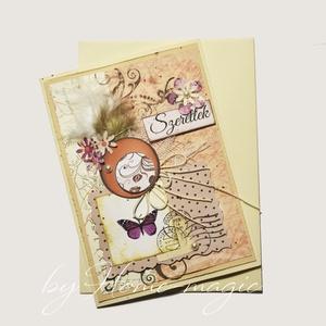 Kézzel készült képeslap, üdvözlőlap, ajándékkísérő - borítékkal, névnapi, születésnapi, anyák napi, pénzátadó, Otthon & Lakás, Papír írószer, Képeslap & Levélpapír, Papírművészet, Fotó, grafika, rajz, illusztráció, Meska