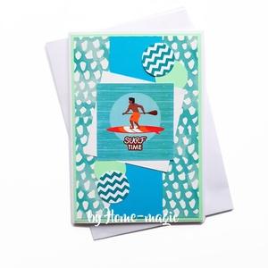 Kézzel készült képeslap, üdvözlőlap, ajándékkísérő - borítékkal, névnapi, születésnapi, anyák napi, pénzátadó, Otthon & Lakás, Papír írószer, Képeslap & Levélpapír, Papírművészet, Meska
