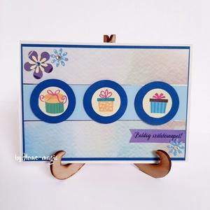Kézzel készült képeslap, üdvözlőlap, ajándékkísérő - borítékkal , Otthon & Lakás, Papír írószer, Képeslap & Levélpapír, Papírművészet, Meska