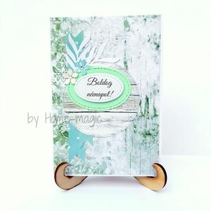 Kézzel készült képeslap, üdvözlőlap, ajándékkísérő - romantikus, névnapra, Otthon & Lakás, Papír írószer, Képeslap & Levélpapír, Papírművészet, Kézzel készült képeslap, üdvözlőlap, ajándékkísérő magas minőségű papírból.\nHozzá illő borítékkal eg..., Meska