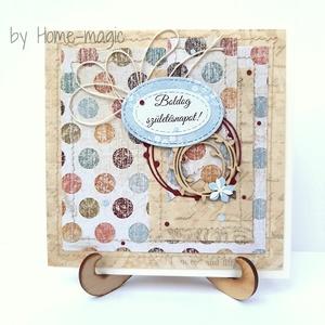 Kézzel készült képeslap, üdvözlőlap, ajándékkísérő - borítékkal, születésnapra, szülinapi, születésnapi, szülinapra - Meska.hu