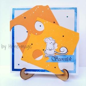 Kézzel készült képeslap, üdvözlőlap, ajándékkísérő - borítékkal, szeretlek, szerelmes, szerelem, love - Meska.hu