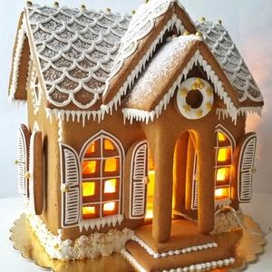 Mézeskalács házikó, Otthon & Lakás, Karácsony & Mikulás, Karácsonyi dekoráció, Mézeskalácssütés, Karácsonyi mézeskalácsház dekoráció.\nKedves-egyedi ajándék az Ünnepi hangulat elmaradhatatlan része!..., Meska