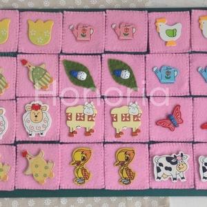 Tavaszi memóriajáték filcből-tulipános, Gyerek & játék, Játék, Készségfejlesztő játék, Fa figurákkal, mintákkal kombinált. Filcből készült lapokkal 2-5 éveseknek. Kreatív foglalkoztató, m..., Meska