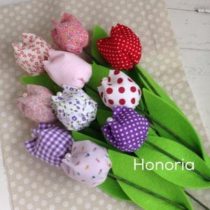 Tavaszi tulipánok (10 db) -vegyes (Honoria) - Meska.hu