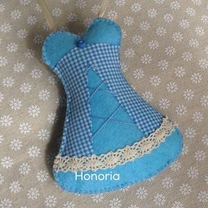 Kék fűző-, levendulával töltött  ( 11 cm) (Honoria) - Meska.hu
