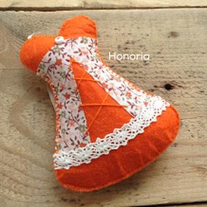 Narancssárga fűző-, levendulával töltött  ( 11 cm) (Honoria) - Meska.hu
