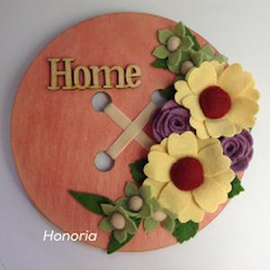 Nyári kert forgataga....- ajtó/fali dísz, Otthon & lakás, Dekoráció, Lakberendezés, Ajtódísz, kopogtató, Filc virágokkal, idézettel....  Mire is gondolsz amikor jön a nyár? Végre ! Jó idő és napsütés....Jó..., Meska