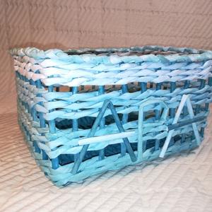 Apa tároló doboz papír, papírfonás , Otthon & lakás, Lakberendezés, Tárolóeszköz, Doboz, Dekoráció, Férfiaknak, Hagyományőrző ajándékok, Fonás (csuhé, gyékény, stb.), Festett tárgyak, Papírfonás technikával készítettem család sorozatom egyik tagjaként, Apa kincses dobozát. \nMéretei :..., Meska