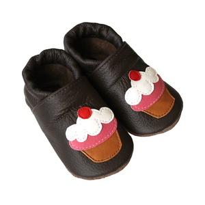 Bőr puhatalpú babacipő - Muffin (Hopphopp) - Meska.hu
