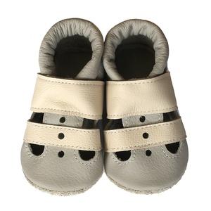 Hopphopp puhatalpú szandál kisfiúknak - Bézs/Krém, Táska, Divat & Szépség, Gyerekruha, Ruha, divat, Cipő, papucs, Varrás, A cipők természetes, puha, minőségi bőrből készülnek, melyek ideálisak a járni tanuló babáknak, vagy..., Meska