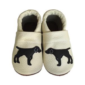 Hopphopp puhatalpú cipő - Vizsla/ Bézs, Babacipő, Babaruha & Gyerekruha, Ruha & Divat, Varrás, A cipők természetes, puha, minőségi bőrből készülnek, melyek ideálisak a járni tanuló babáknak, vagy..., Meska