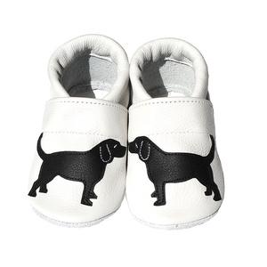 Hopphopp puhatalpú cipő - Labrador/Fehér, Gyerek & játék, Táska, Divat & Szépség, Cipő, papucs, Varrás, A cipők természetes, puha, minőségi bőrből készülnek, melyek ideálisak a járni tanuló babáknak, vagy..., Meska