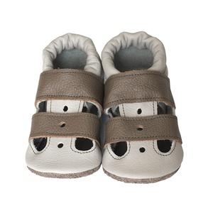 Hopphopp puhatalpú szandál kisfiúknak - Szürke/Barna, Táska, Divat & Szépség, Cipő, papucs, Ruha, divat, Gyerekruha, Varrás, A cipők természetes, puha, minőségi bőrből készülnek, melyek ideálisak a járni tanuló babáknak, vagy..., Meska