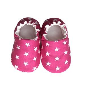 Pink fehér csillagos kocsicipő, Gyerek & játék, Táska, Divat & Szépség, Cipő, papucs, Varrás, 16-19-es méretben rendelhetők a cipőcskék, kívül-belül pamutból készülnek, illetve a két réteg közé ..., Meska