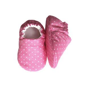 Rózsaszín/Fehér pöttyös kocsicipő (Hopphopp) - Meska.hu