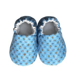 Kék/Aprómintás kocsicipő, Gyerek & játék, Táska, Divat & Szépség, Cipő, papucs, Varrás, 16-19-es méretben rendelhetők a cipőcskék, kívül-belül pamutból készülnek, illetve a két réteg közé ..., Meska
