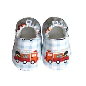 Autós kocsicipő, Cipő, Cipő & Papucs, Ruha & Divat, Varrás, 16-19-es méretben rendelhetők a cipőcskék, kívül-belül pamutból készülnek, illetve a két réteg közé ..., Meska