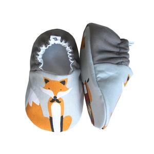 Rókás - Hordozós pamutcipő  (Hopphopp) - Meska.hu