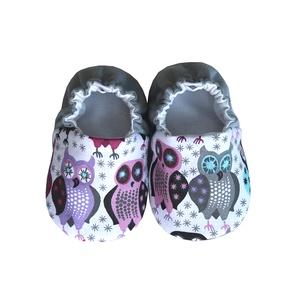 Baglyos - Hordozós pamutcipő, Babacipő, Babaruha & Gyerekruha, Ruha & Divat, Varrás, 16-19-es méretben rendelhetők a cipőcskék, kívül-belül pamutból készülnek, illetve a két réteg közé ..., Meska