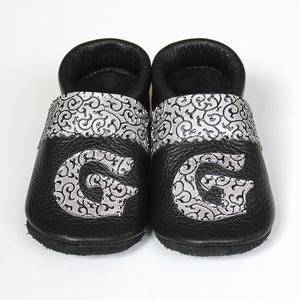 Hopphopp puhatalpú cipő - Monogramos - Keresztelőre/Esküvőre/Alkalmakra, Mamusz & Házicipő, Cipő & Papucs, Ruha & Divat, Varrás, A cipők természetes, puha, minőségi bőrből készülnek, melyek ideálisak a járni tanuló babáknak, vagy..., Meska