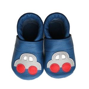 Hopphopp puhatalpú cipő - Autós/Kék, Táska, Divat & Szépség, Cipő, papucs, Ruha, divat, Gyerekruha, Varrás, Bőrművesség, A cipők természetes, puha, minőségi bőrből készülnek, melyek ideálisak a járni tanuló babáknak, vagy..., Meska