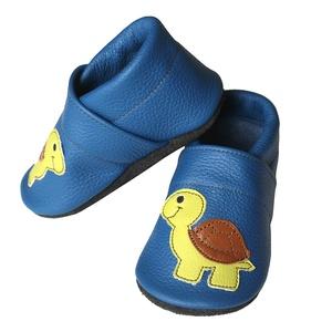 Hopphopp puhatalpú cipő - Teknősös/Kék (Hopphopp) - Meska.hu
