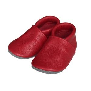 Hopphopp puhatalpú cipő - Piros, Ruha & Divat, Cipő & Papucs, Cipő, Varrás, A cipők természetes, puha, minőségi bőrből készülnek, melyek ideálisak a járni tanuló babáknak, vagy..., Meska