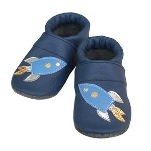 Hopphopp puhatalpú cipő - Űrhajó, Babacipő, Babaruha & Gyerekruha, Ruha & Divat, Varrás, A cipők természetes, puha, minőségi bőrből készülnek, melyek ideálisak a járni tanuló babáknak, vagy..., Meska