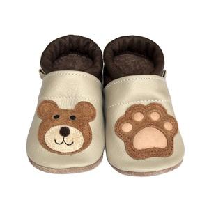 Hopphopp Puhatalpú Cipő - 3D Maci, Gyerek & játék, Táska, Divat & Szépség, Cipő, papucs, Varrás, A saját tervezésű 3D mintás cipők természetes, puha, minőségi bőrből készülnek, melyek ideálisak a j..., Meska