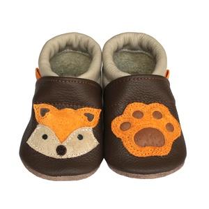 Hopphopp Puhatalpú Cipő - 3D Róka, Gyerek & játék, Táska, Divat & Szépség, Cipő, papucs, Varrás, A saját tervezésű 3D mintás cipők természetes, puha, minőségi bőrből készülnek, melyek ideálisak a j..., Meska