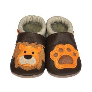 Hopphopp Puhatalpú Cipő - 3D Oroszlán, Babacipő, Babaruha & Gyerekruha, Ruha & Divat, Varrás, A saját tervezésű 3D mintás cipők természetes, puha, minőségi bőrből készülnek, melyek ideálisak a j..., Meska