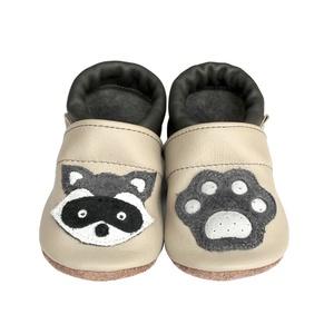 Hopphopp Puhatalpú Cipő - 3D Mosómaci, Babacipő, Babaruha & Gyerekruha, Ruha & Divat, Varrás, A saját tervezésű 3D mintás cipők természetes, puha, minőségi bőrből készülnek, melyek ideálisak a j..., Meska