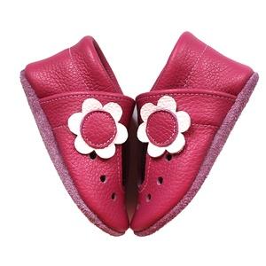 Hopphopp puhatalpú cipő - Virágos szandál/pink, Babacipő, Babaruha & Gyerekruha, Ruha & Divat, Bőrművesség, Varrás, A cipők természetes, puha, minőségi bőrből készülnek, melyek ideálisak a járni tanuló babáknak, vagy..., Meska