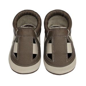 Hopphopp Puhatalpú Szandál - Drapp/Barna, Gyerek & játék, Táska, Divat & Szépség, Cipő, papucs, Gyerekruha, Ruha, divat, Bőrművesség, Varrás,  A cipők természetes, puha, minőségi bőrből készülnek, melyek ideálisak a járni tanuló babáknak, vag..., Meska