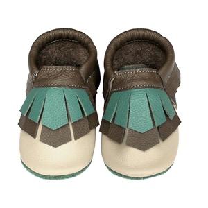 Hopphopp Puhatalpú Mokaszin - Bézs/barna, Gyerek & játék, Táska, Divat & Szépség, Cipő, papucs, Gyerekruha, Ruha, divat, Bőrművesség, Varrás,  A cipők természetes, puha, minőségi bőrből készülnek, melyek ideálisak a járni tanuló babáknak, vag..., Meska