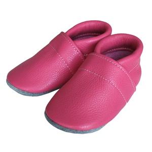Hopphopp puhatalpú cipő - Pink, Cipő, Cipő & Papucs, Ruha & Divat, Bőrművesség, Varrás, A cipők természetes, puha, minőségi bőrből készülnek, melyek ideálisak a járni tanuló babáknak, vagy..., Meska