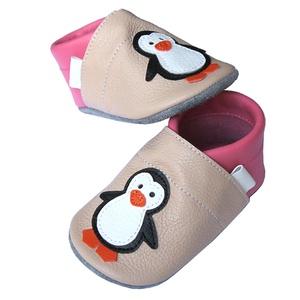 Új!!! Hopphopp puhatalpú cipő - Pingvin - púder/rózsaszín (Hopphopp) - Meska.hu