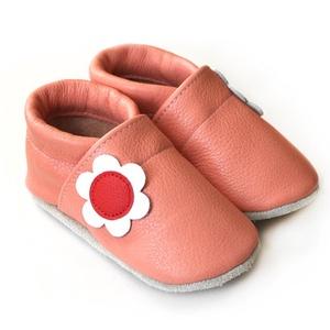 Hopphopp puhatalpú cipő - Virágos/barackrózsaszín (Hopphopp) - Meska.hu