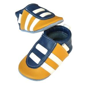 Hopphopp puhatalpú Sportcipő -Mustársárga/kék - 18-as méret, Ruha & Divat, Cipő & Papucs, Cipő, Bőrművesség, Varrás, Készleten lévő, azonnal elvihető!!!\n\nA puhatalpú cipő 18-as méretű, belső talphossza 116mm!\n\nTeljese..., Meska