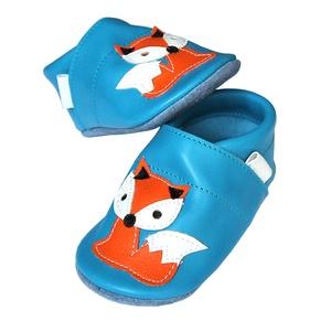 Hopphopp puhatalpú cipő -Rókás/türkiz - 20-as méret, Táska, Divat & Szépség, Cipő, papucs, Ruha, divat, Gyerekruha, Baba (0-1év), Gyerek (1-10 év), Bőrművesség, Varrás, Készleten lévő, azonnal elvihető!!!\n\nA puhatalpú cipő 20-as méretű, belső talphossza 129mm!\n\nTeljese..., Meska