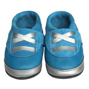 Hopphopp puhatalpú Sportcipő - Kék/ezüst, Táska, Divat & Szépség, Cipő, papucs, Ruha, divat, Gyerekruha, Baba (0-1év), Gyerek (1-10 év), Bőrművesség, Varrás, A cipők természetes, puha, minőségi bőrből készülnek, melyek ideálisak a járni tanuló babáknak, vagy..., Meska